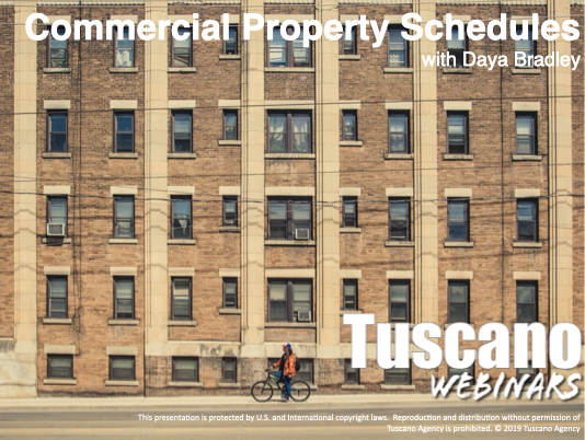 Managing Commercial Property Schedules