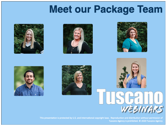 Meet the Tuscano Property, Package & Liquor Team