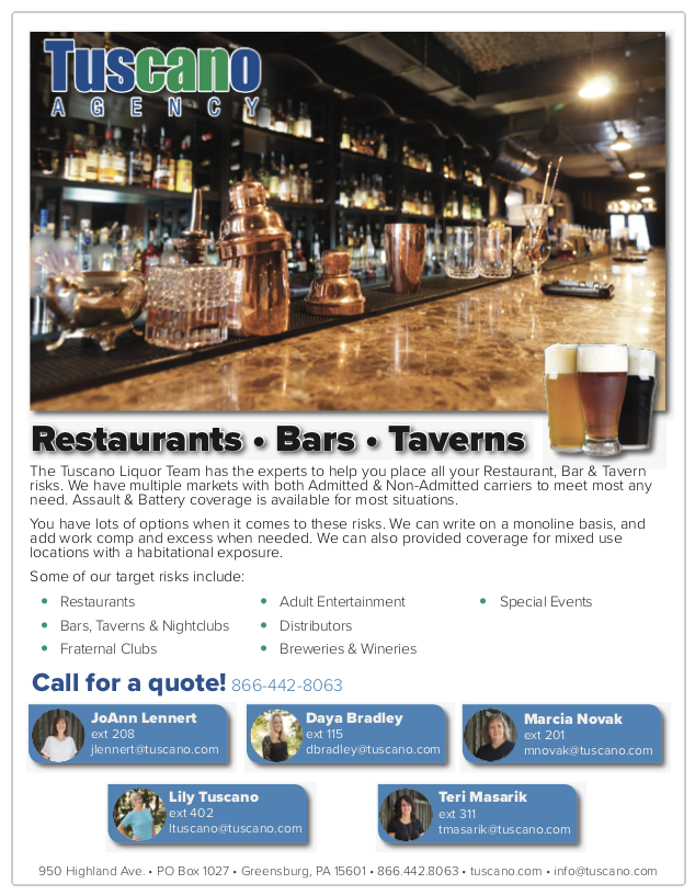 Restaurants, Bars & Taverns Ad