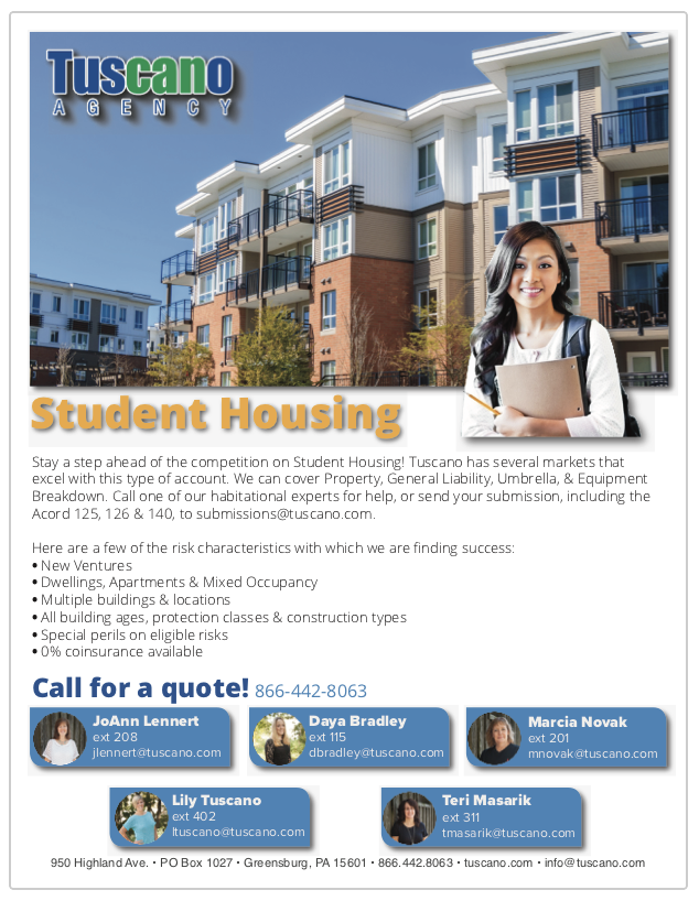 Student Housing Ad