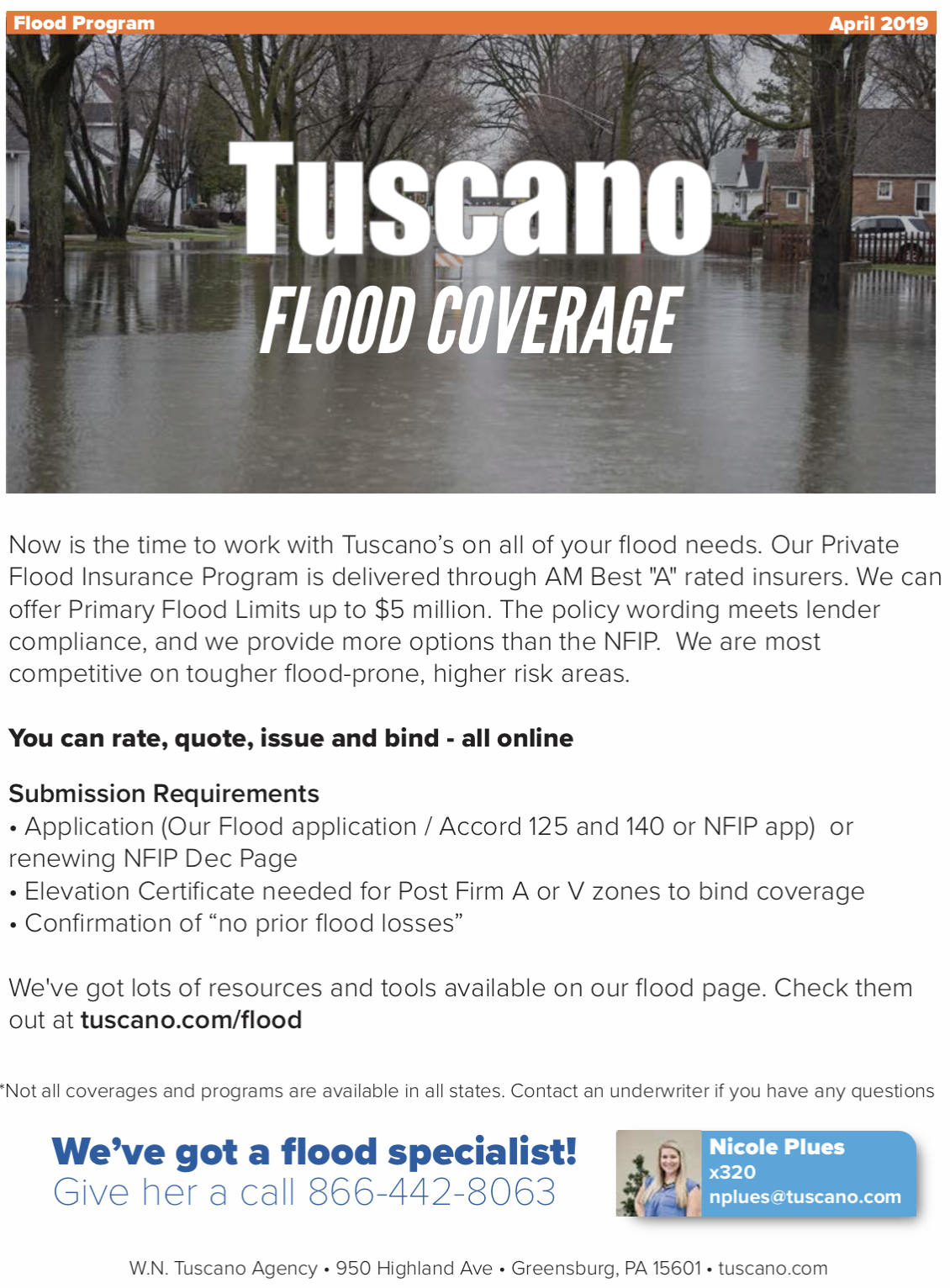 Flood Coverage Flyer