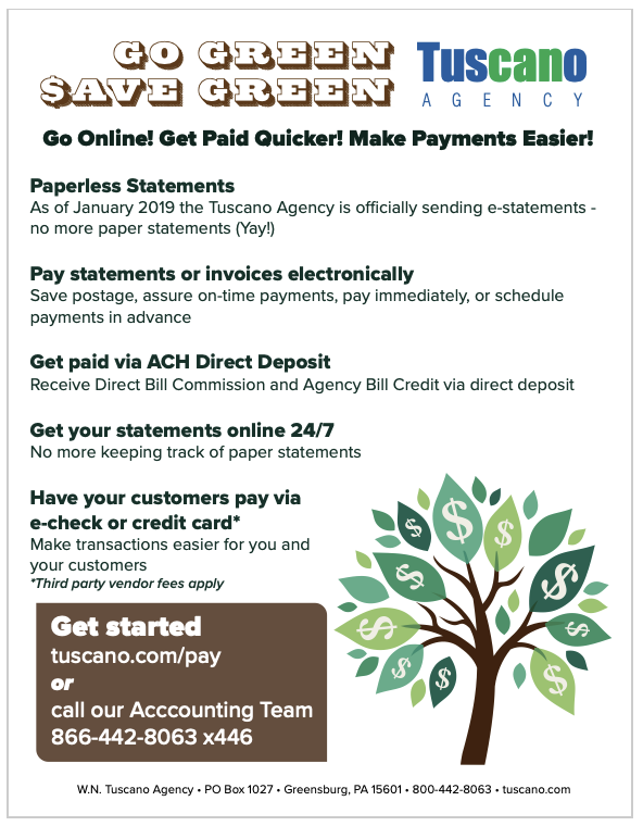 Go Green Online Payments Flyer